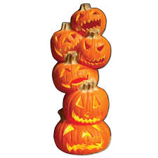 life size 6 u0027 tall stacked jack o u0027 lanterns halloween lawn