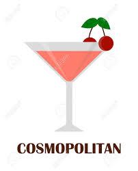 cosmopolitan drink clipart cosmopolitan cocktail con ciliegia isolato vetro bere alcool