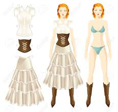 doll with clothes body template set of template paper clothes