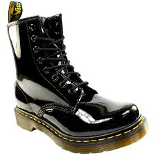 womens boots uk size 8 womens dr martens 1460 w 8 eyelet patent ler army combat lace