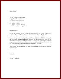 example of letters of resignation resignation letter samples with