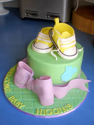 Baby Shower Cake And Cupcakes Sugar Siren Cakes Mackay Baby Converse Baby Shower Cake With