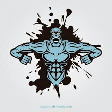 muscle monster man tattoo design vector free download