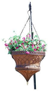victorian parasol hanging planter traditional outdoor pots and
