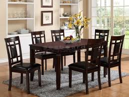 cheap 7 piece dining table sets paige 7 piece dining room set in dark brown 2325 kitchen table