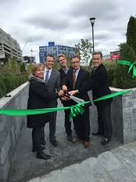 north end parks ribbon cutting for the new greenway swings