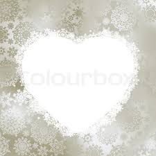 christmas card frame in the shape of heart stock vector