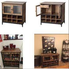 Rustic Bar Cabinet Antiqued Rustic Wine Bar Cabinet 16 Bottle Storage Glass Doors