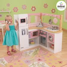 Deluxe Kitchen Play Set by Ideas Play Kitchens For Girls Kidkraft Kitchen Retro Toy