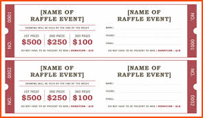 templates for raffle tickets 12 microsoft word ticket template survey template words