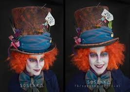 mad hatter makeup from alice in wonderland by the awesome
