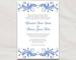 Royal Blue Wedding Invitations 32 Blank Blue Wedding Invitations Vizio Wedding