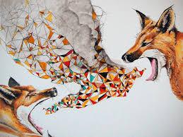 Fox Home Decor by Smoke Signals Fox Tribal Modern Geometric Print Open Edition