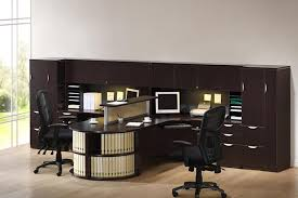 T Shaped Desks An Executive T Shaped Desk For Two With Loads Of Storage Hutch