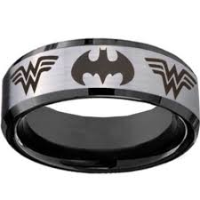 batman wedding rings titanium rings lazer graphic justtitanium