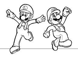 mario luigi dancing mario brothers coloring color luna