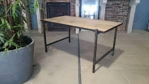 vieux bureau en bois bureau en fer et vieux bois vieux chêne de récupération bca