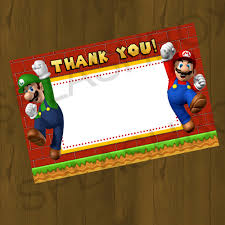 mario bros birthday printable cards splashbox