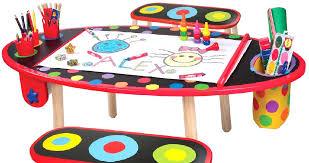 kids craft table with storage kids art desk with paper roll kid art table with storage intended