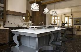 beautiful kitchen islands beautiful kitchen island ideas with brown floor and white bar