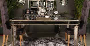 mirrored dining furniture with sophie mirrored dining table