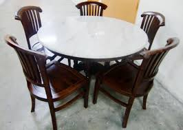 Wooden Dining Table With Marble Top Karo Teak Furniture Dining Sets