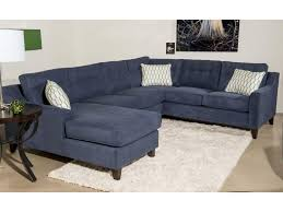 Klaussner Home Furnishing Klaussner Audrina Contemporary 3 Piece Sectional Sofa With Chaise