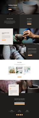 get layout from view get a beautifully polished pottery studio layout pack for divi