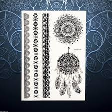 christmas snowflake pattern black henna tattoo flower lace mehndi