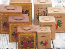 antique kitchen canister sets vintage chickens for your kitchen