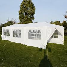 wedding tent 10 u0027x30 u0027 canopy party outdoor gazebo 4 side walls
