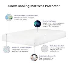 protect a bed cooling mattress pad therm a sleep snow protector