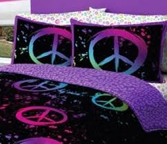 Purple U0026 Pink Teen Bedding by 36 Best Peace Sign Bedding Images On Pinterest Afghans Bed In A