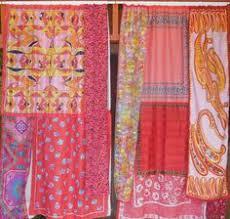 Hippie Drapes Window Valance Boho Fringe Boho Curtains Gypsy Drapes Hippie
