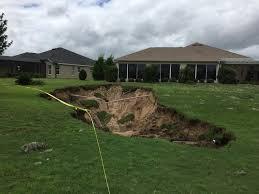 Sinkhole In Backyard Large Sinkholes Open Up In Villages In Wake Of Hurricane Irma U0027s