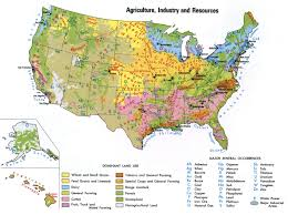 Us Map Chicago by Natural Resources Of Usa