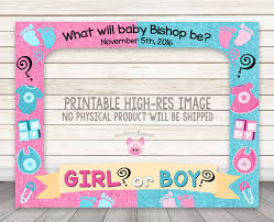 baby shower frames printable gender reveal photo booth frame happy barn