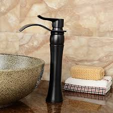 Vessel Faucets Oil Rubbed Bronze Waterfall Bathroom Faucet Sink Vessel Single Handle Basin Mixer
