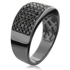 mens wedding band designers designer 10k gold black diamond wedding band for men 1 67ct