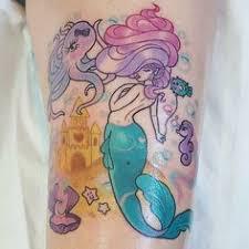 mermaid tattoo by shannan meow shannanmeow girly cute kawaii