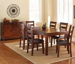 6 piece dining room set with parson u0027s and ladder back side chairs