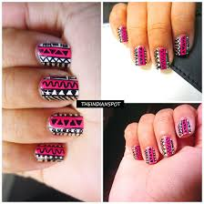 tribal nail art tutorial with sharpie marker theindianspot
