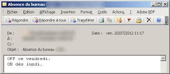 outlook message absence bureau mails d absence les meilleurs messages automatiques pendant les