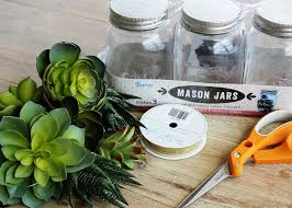 Mason Jar Arrangements Mason Jar Centerpieces Using Succulents Darice