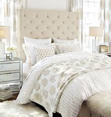 Pottery Barn White Comforter Lorraine Tufted Tall Bed U0026 Headboard Pottery Barn