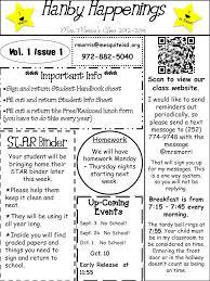 kindergarten newsletter template family center newsletter