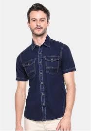 Baju Levis Biru jual lgs lgs slim fit kemeja fashion biru gelap model