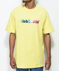 light yellow t shirt 40s shorties 3d text logo light yellow t shirt zumiez