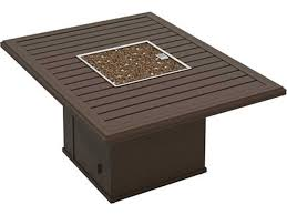 Rectangle Fire Pit - tropitone bachetto aluminum 54 x 42 rectangular fire pit table