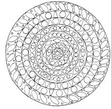 geometric mandala mandalas coloring pages for adults justcolor